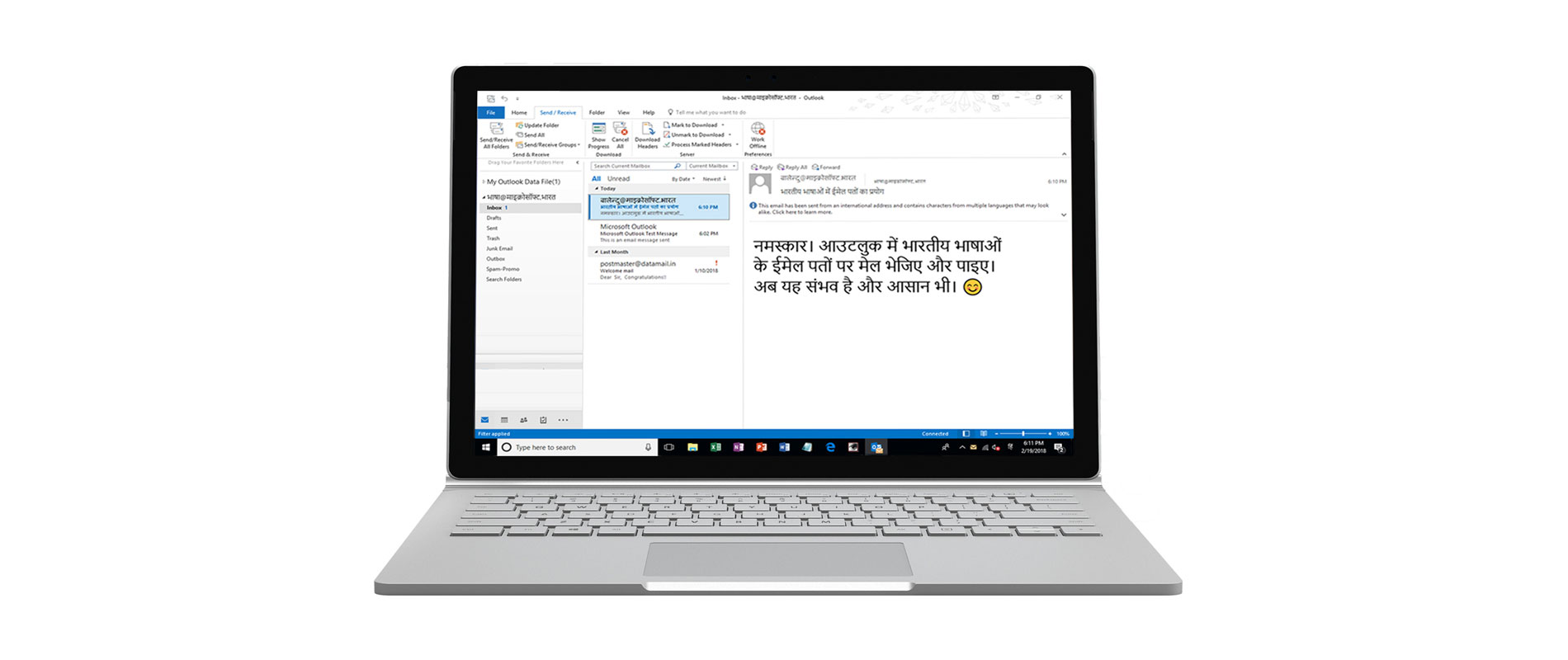 Microsoft support Indian languages