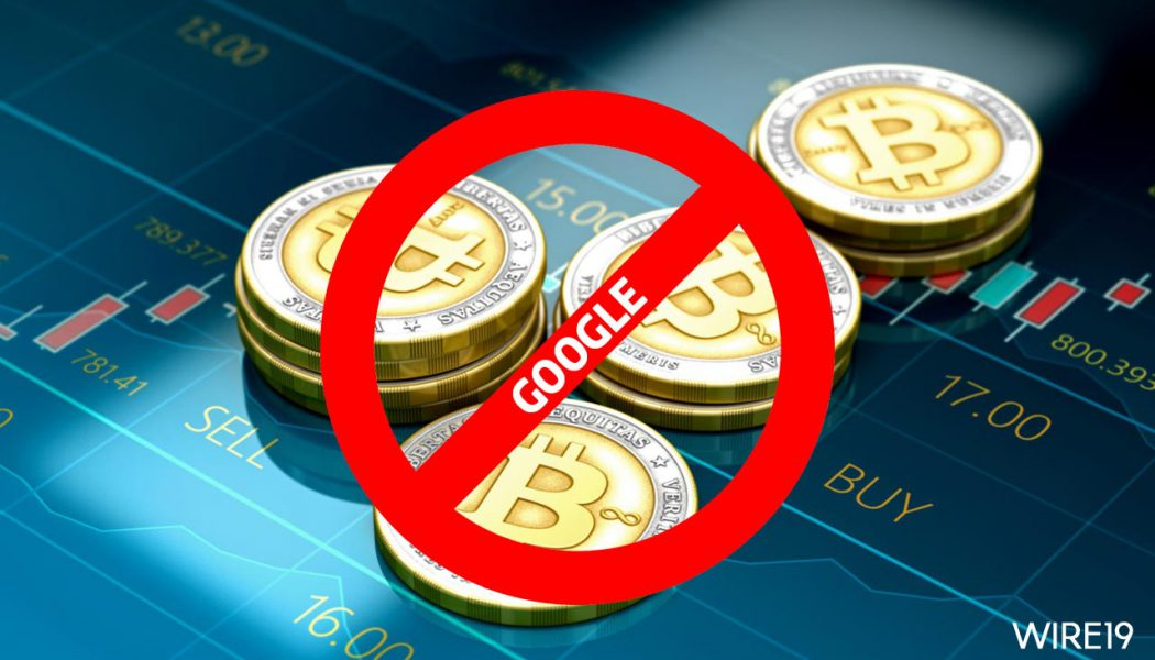 Bitcoin price drops as Google bans all cryptocurrency ads