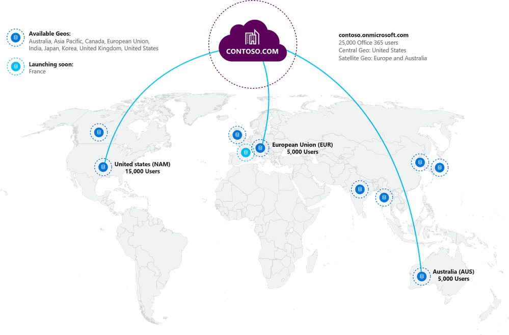 Multi-Geo Capabilities in Office 365