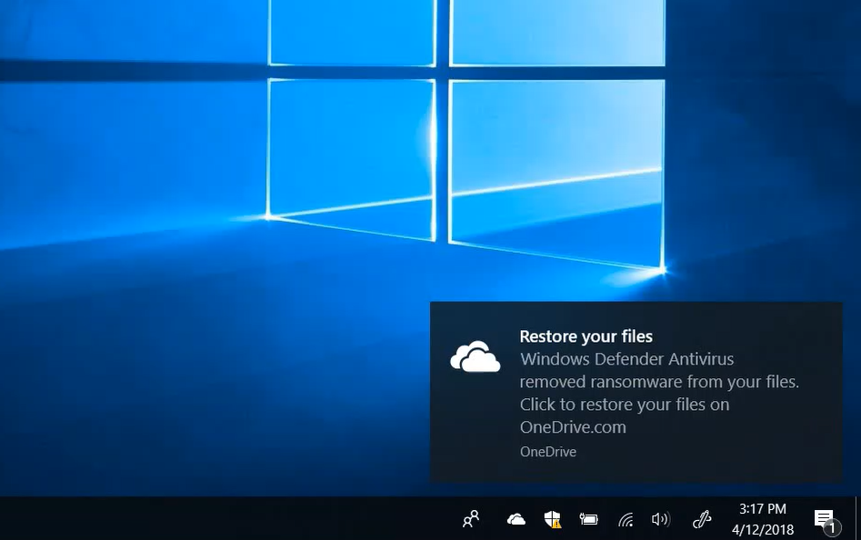 Integration of OneDrive Files Restore and Windows Defender