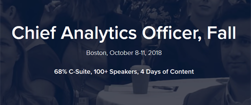 Chief Analytics Officer, Fall, Boston