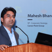 """""""We use AI, ML and AR to advance the frontier of learning by simulating real-world environments""""— Mahesh Bhangriya, VP- Corporate Strategy, Career Point Group"""