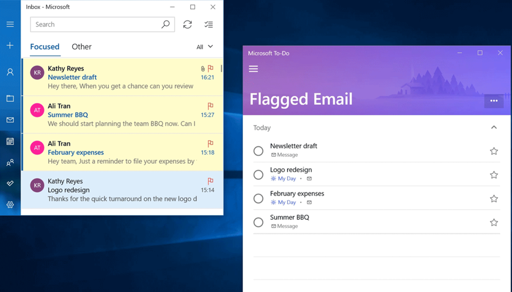 flagged emails in Microsoft To-Do