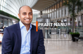"""""""Blockchain has a great potential to become the preferred way to conduct cross-border money transfers."""" – Prajit Nanu, CEO, InstaReM"""