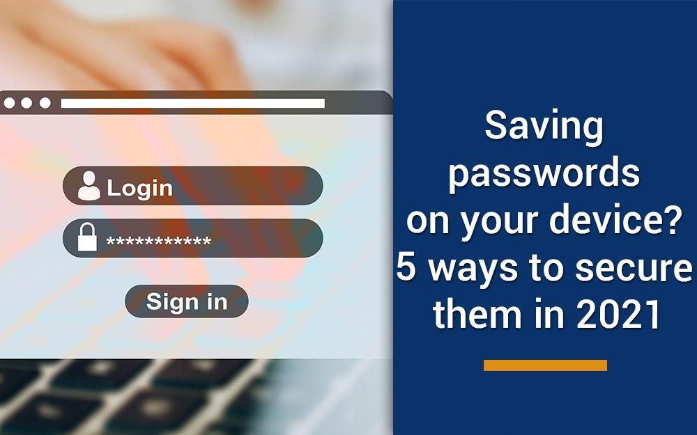 ways to secure password